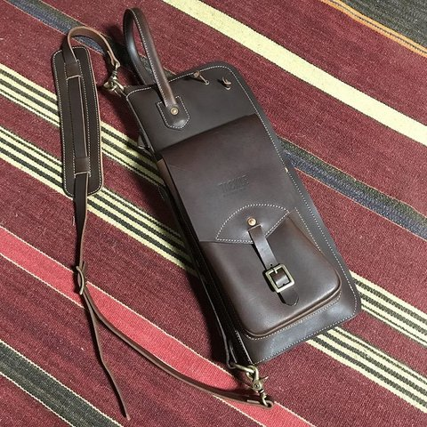 Tackle Leather Stick Case w/Patented Stick Stand, Brown