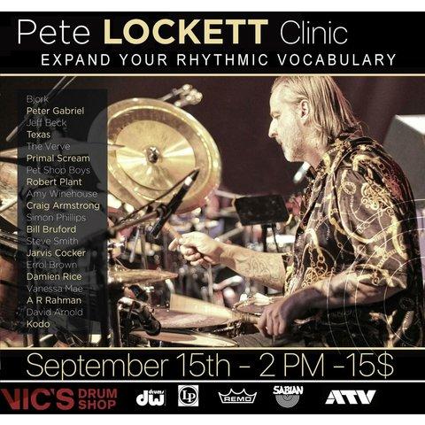 Pete Lockett. 9/15 Clinic