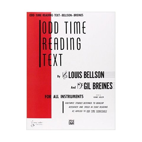 Odd Time Reading Text By Louis Bellson and Gil Breines; Book