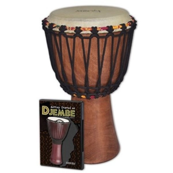 Hal Leonard Tycoon Djembe Pack: Includes TAJ-8 Djembe and Hudson_Ñés Getting Started On Djembe DVD