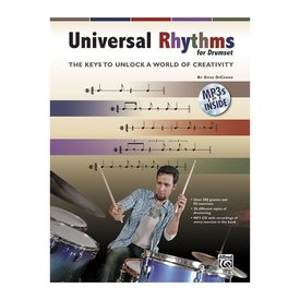 Alfred Publishing Universal Rhythms for Drumset by Dave DiCenso; Book & CD