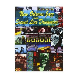 Alfred Publishing New Orleans Jazz and Second Line Drumming by Herlin Riley and Johnny Vidacovich; Book & CD