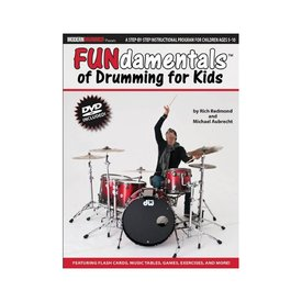 Hal Leonard FUNdamentals Of Drumming For Kids by Rich Redmond and Michael Aubrecht; Book & DVD