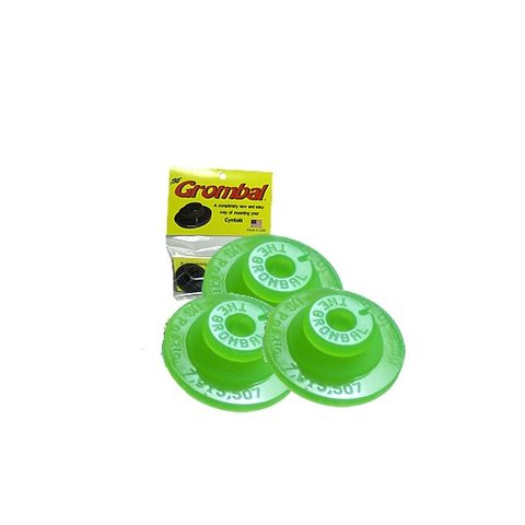 Grombal Cymbal Grommet 3 Pack; Green