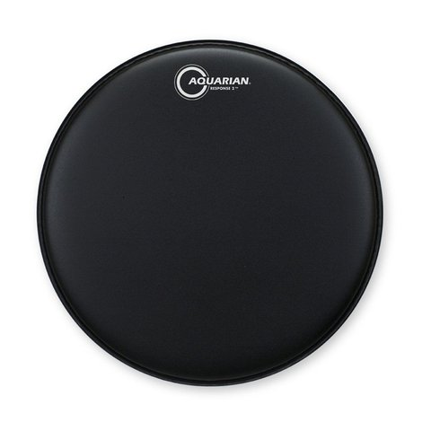"Aquarian Response 2 Series Texture Coated 18"" (2-Ply) Drumhead - Black"