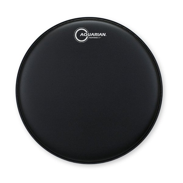 "Aquarian Aquarian Response 2 Series Texture Coated 18"" (2-Ply) Drumhead - Black"