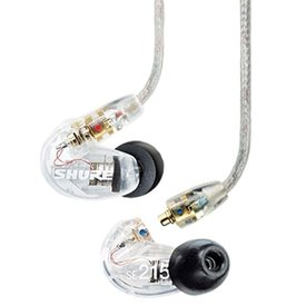 Shure Shure SE215-CL Sound Isolating Single Driver High Definition Earbud Style Earphones; Clear