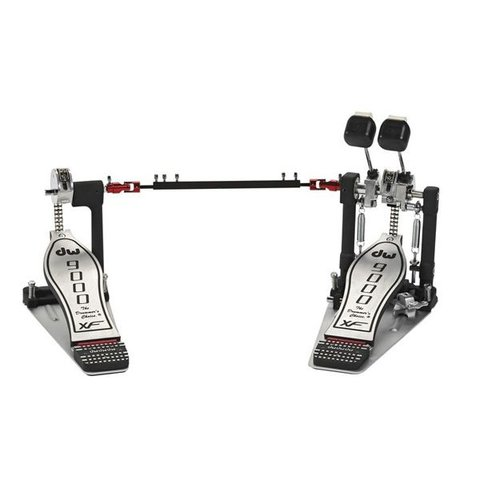 DW 9000 Series Double Bass Drum Pedal with Extended Footboard and Case
