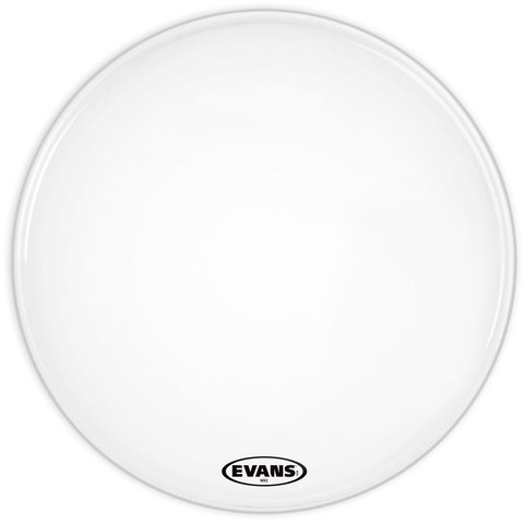 "Evans MX2 White Marching 22"" Bass Drumhead"