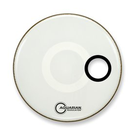 "Aquarian Aquarian Regulator Series Small Hole 18"" Drumhead with Ring - White"