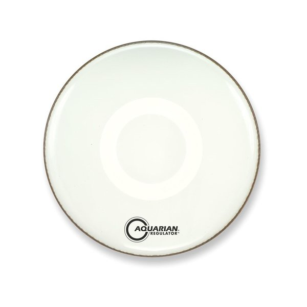 """Aquarian Aquarian Front 24"""" Bass Drumhead with Ring - White"""