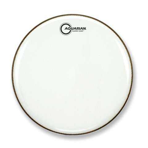 "Aquarian Classic Clear Series 18"" Bass Drumhead - White"