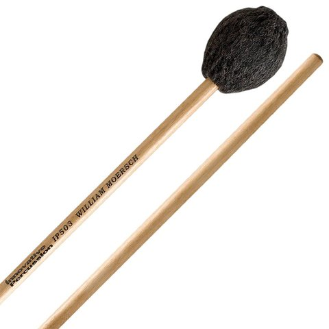 Innovative Percussion Medium Hard Marimba Mallets - Charcoal Yarn - Birch