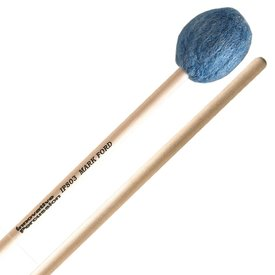 Innovative Percussion Innovative Percussion Medium Hard Legato Marimba Mallets - Deep Blue Yarn - Birch