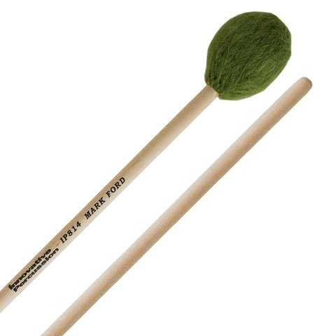 Innovative Percussion Strong Legato Hard Marimba - Green Yarn - Birch