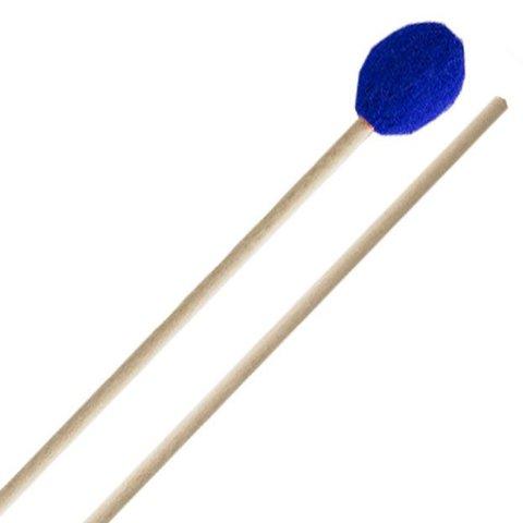 Innovative Percussion Hard Marimba Mallets - Electric Blue Yarn - Birch