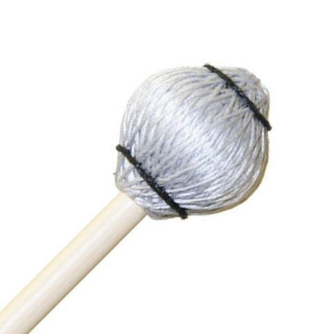 """Mike Balter 25B Pro Vibe Series 14 1/2"""" Jazz Silver Cord Marimba/Vibe Mallets with Birch Handles"""