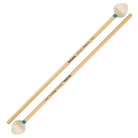 Innovative Percussion Innovative Percussion David Friedman /  Light Vibraphone Mallets - Ivory Yarn/Light Blue Tape - Rattan