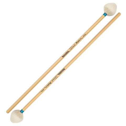 Innovative Percussion David Friedman /  Light Vibraphone Mallets - Ivory Yarn/Light Blue Tape - Rattan