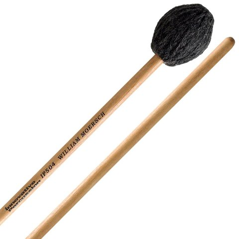 Innovative Percussion Hard Marimba Mallets - Charcoal Yarn - Birch