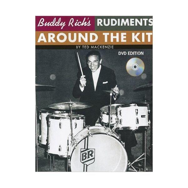 Hal Leonard Buddy Rich's Rudiments Around The Kit by Ted MacKenzie; Book & DVD