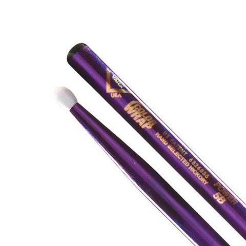 Vater Color Wrap 5A Purple Optic Nylon Tip Drumsticks