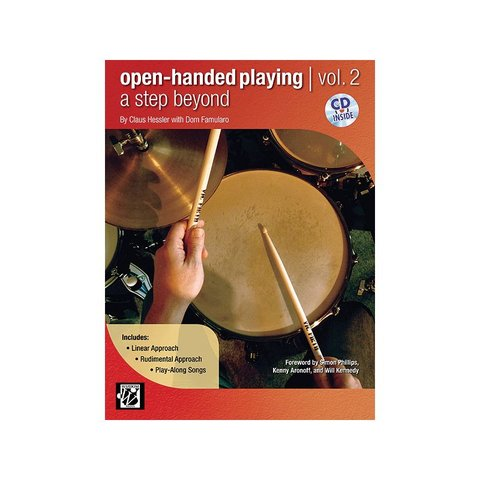 Open-Handed Playing Vol. 2 by Claus Hessler and Dom Famularo; Book & CD