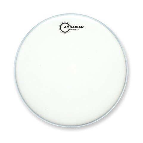 "Aquarian Focus-X Texture Coated 12"" Drumhead - White"