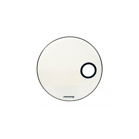 """Aquarian Ported Small Hole 20"""" Bass Drumhead - White"""