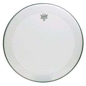"Remo Remo Coated Powerstroke 3 22"" Diameter Bass Drumhead - 2-1/2"" Falam Patch with No Stripe"