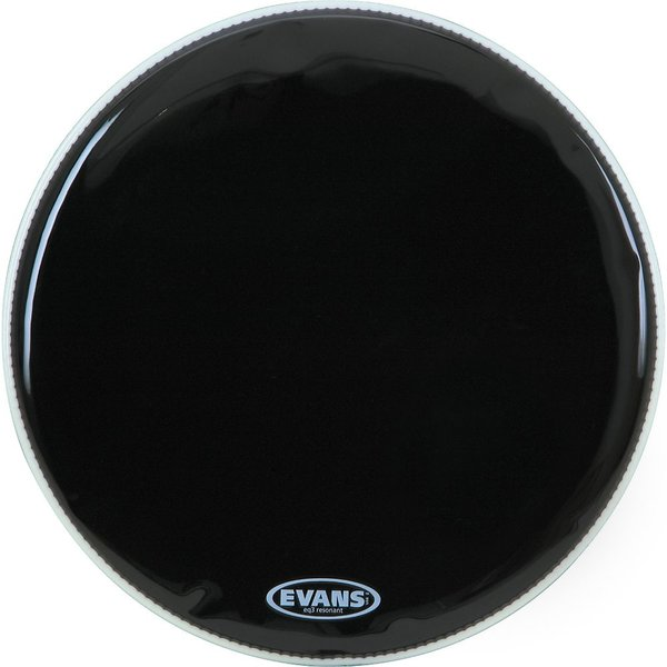 "Evans Evans EQ3 16"" Black Resonant Tom Drumhead"