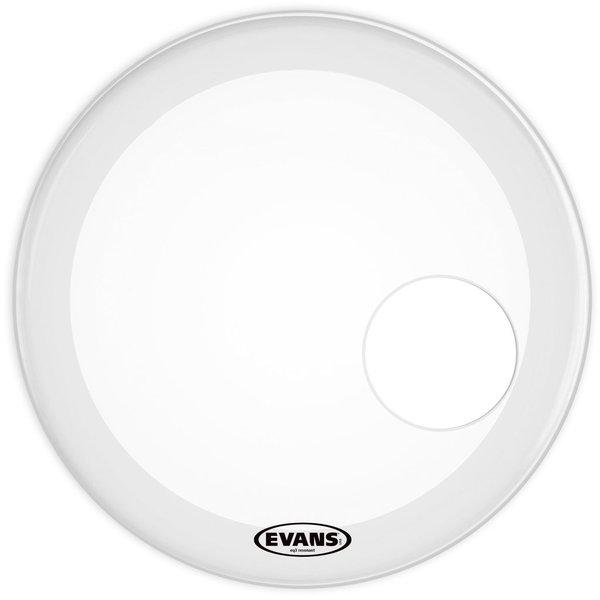 "Evans Evans EQ3 Resonant Coated White 18"" Bass Drumhead"