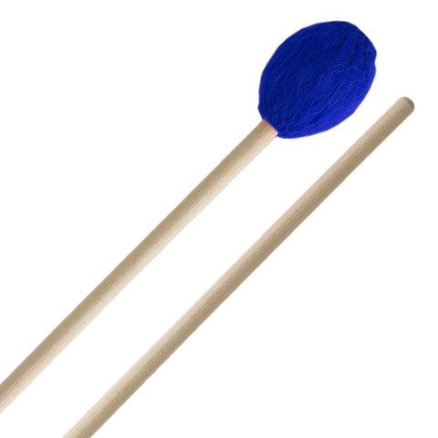 Innovative Percussion Medium Hard Marimba Mallets - Electric Blue Yarn - Birch