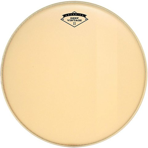 "Aquarian Deep Vintage II 24"" Bass Drumhead with Felt Strip"