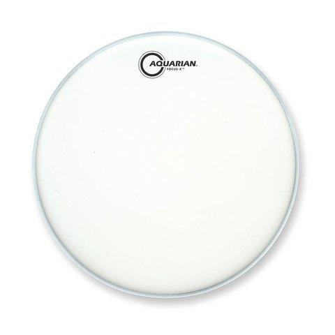 "Aquarian Focus-X Texture Coated 13"" Drumhead - White"