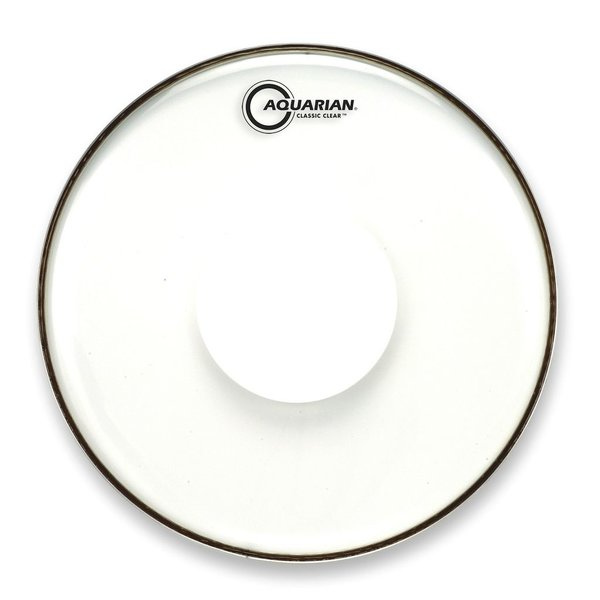 "Aquarian Aquarian Classic Clear Series 15"" Drumhead with Power Dot"