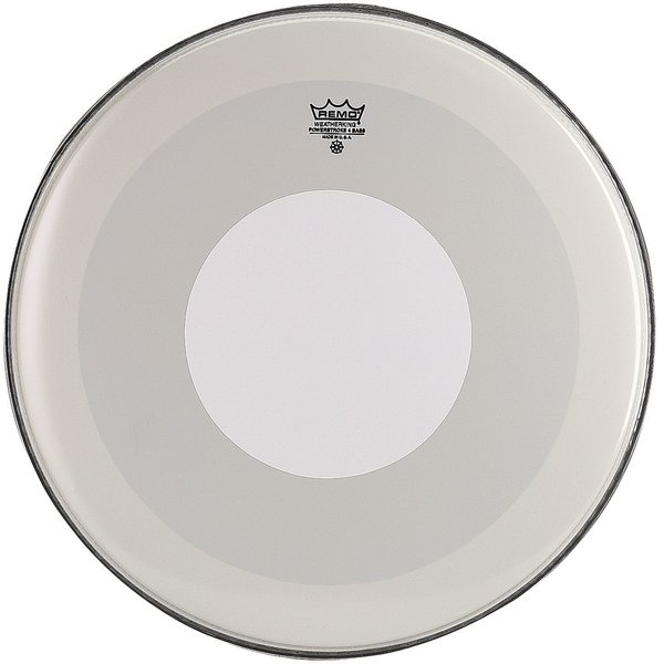 "Remo Remo Smooth White Powerstroke 4 - 22"" Diameter Bass Drumhead - White Dot Top Side"