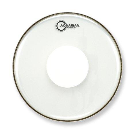 "Aquarian Response 2 Series 13"" (2-Ply) Drumhead with Power Dot - No Glue"