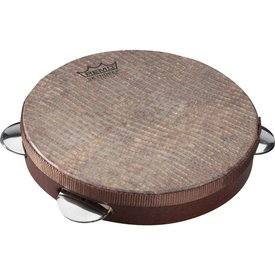 Remo Remo Capoeira Pandeiro 10x1.75 Fixed Skyndeep Snake Skin Ultratac Graphic Head - Antique Finish