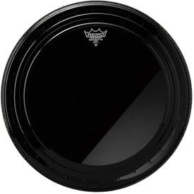 "Remo Remo Ebony Powerstroke Pro 24"" Diameter Bass Drumhead"