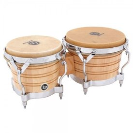 LP LP Generation II Bongos, Natural/Chrome