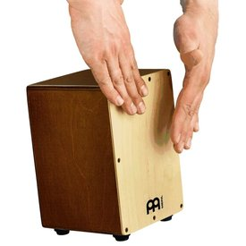 "Meinl Meinl Mini Cajon 5 3/4x8 3/4x5 3/4"" ; Natural Frontplate With Almond Birch Body"