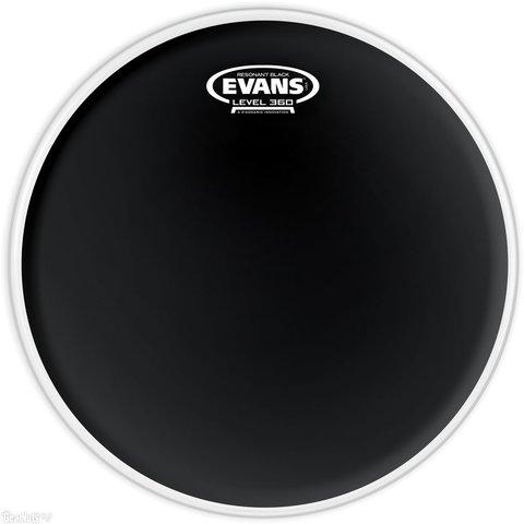 "Evans Resonant Black 14"" Tom Drumhead"