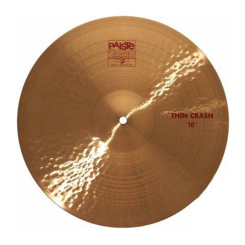 "Paiste 2002 Classic 16"" Thin Crash Cymbal"