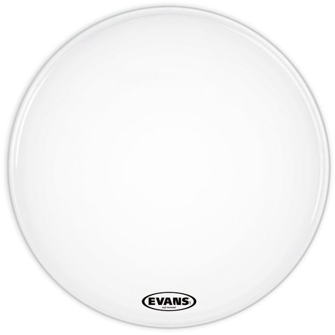 "Evans EQ3 Resonant Smooth White 20"" No Port Bass Drumhead"