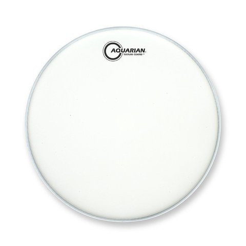 """Aquarian Force I Series Texture Coated 16"""" Bass Drumhead Satin Finish - White"""