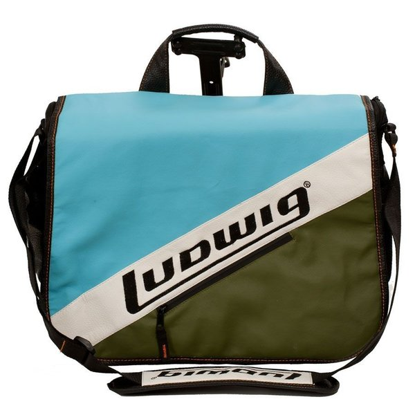 Ludwig Ludwig Atlas Classic Laptop Bag w/Classic Blue / Olive Style