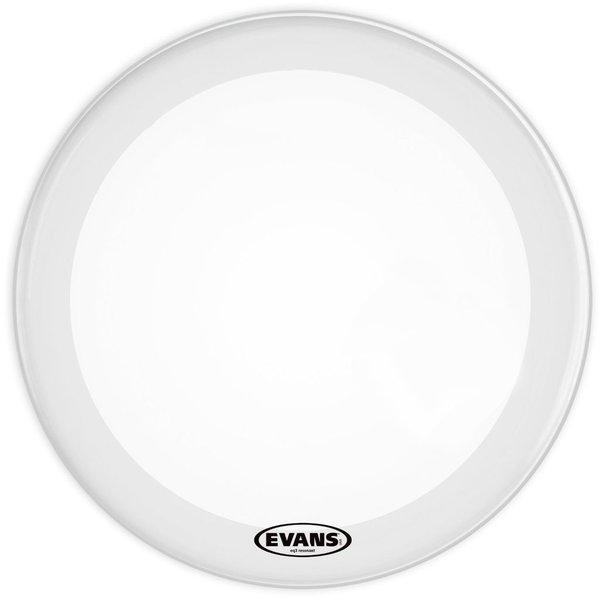 """Evans Evans EQ3 16"""" Smooth White Resonant Bass Drumhead; No Port"""