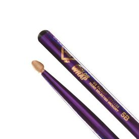 Vater Vater Color Wrap 5B Purple Optic Wood Tip Drumsticks