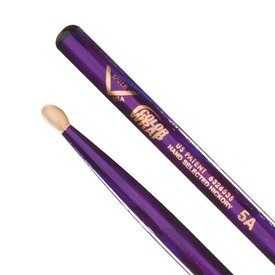 Vater Vater Color Wrap 5A Purple Optic Wood Tip Drumsticks